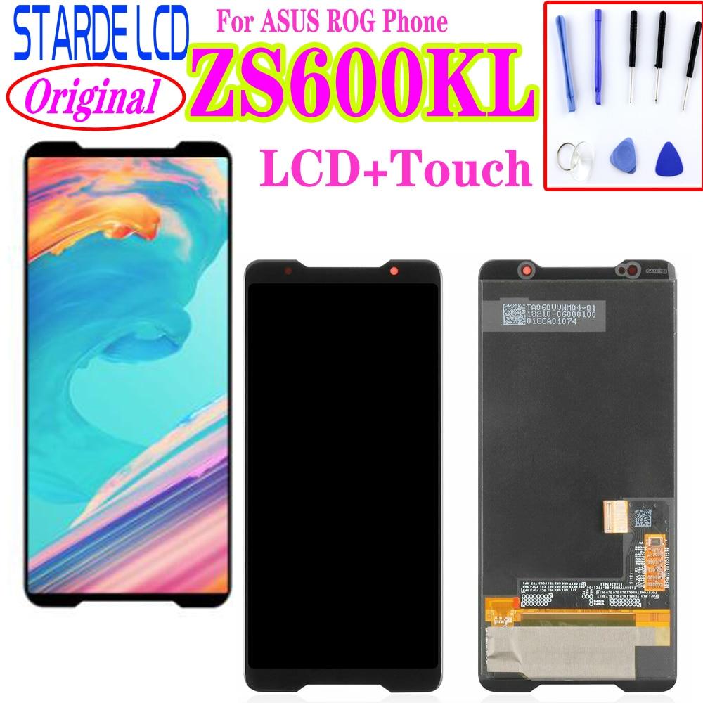 Pantalla LCD amoldada Original para Asus ROG Phone ZS600kl z01QD pantalla LCD MONTAJE DE digitalizador con pantalla táctil reemplazo