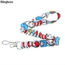 Blinghero Anime lanière cou sangles avec clés téléphone portable Cool dessin animé impression lanière accrocher cordes cadeaux pour enfants BH0311