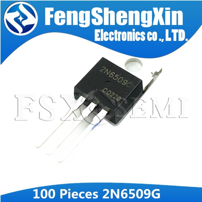 100 قطعة 2N6509G إلى 220 2N6509 TO220 السليكون مقومات التحكم الترانزستور
