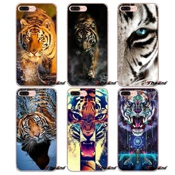 For iPhone X 4 4S 5 5S 5C SE 6 6S 7 8 Plus Samsung Galaxy J1 J3 J5 J7 A3 A5 2016 2017 Case Trippy Feral Tiger fractal Fractalius