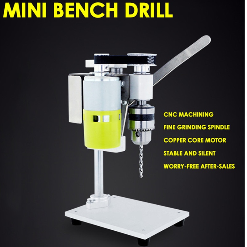 Desktop Drill Machine Bench Drill Small Drill High Precision Publishing DIY Wooden Metal Electric Tool