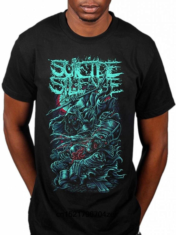 Men T Shirt Suicide Silence Grim Reaper Deathcore Music Album Chris Garza Fashion T-Shirt Novelty Tshirt Women