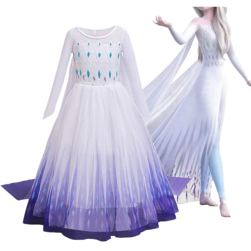 Nuevo vestido de Elsa para niñas vestido de verano de la Reina...