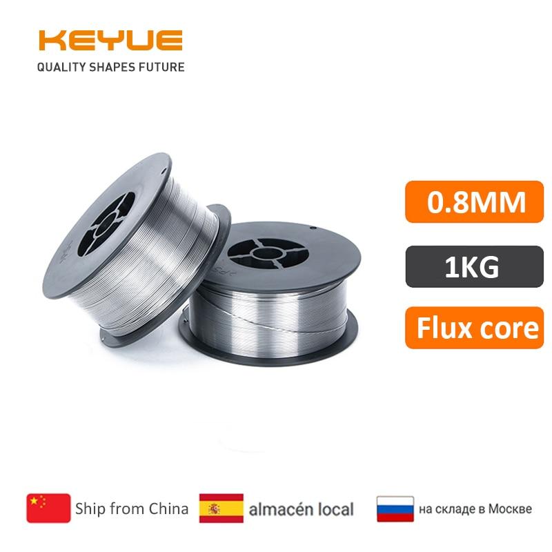 KEYUE Flux Core Wire Self-shielded No Gas Mig 1KG 0.8mm  Carbon Steel Welding Gasless