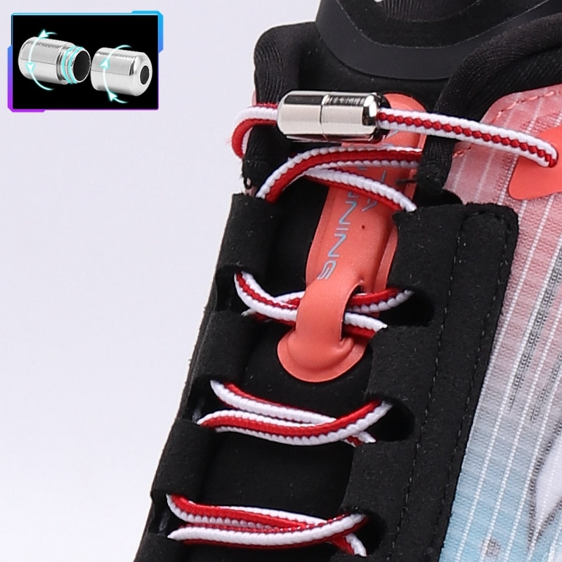 New No Tie Shoe laces Round Shoelaces for Sneakers Elastic Laces without ties Kids Adult Quick Shoe lace Rubber Bands