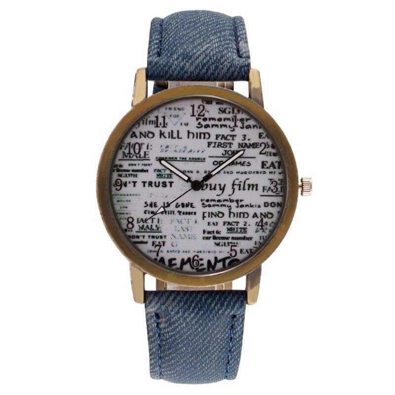 Винтажные бронзовые мужские часы с цифровым циферблатом и джинсовым ремешком, Мужские кварцевые наручные часы, мужские наручные часы