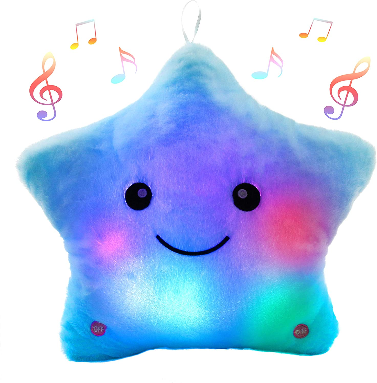 Star Pillow Night Light With Music Kids Bedroom Decoration Christmas Gifts Nightlight Sleeping Companion Lamp enlarge