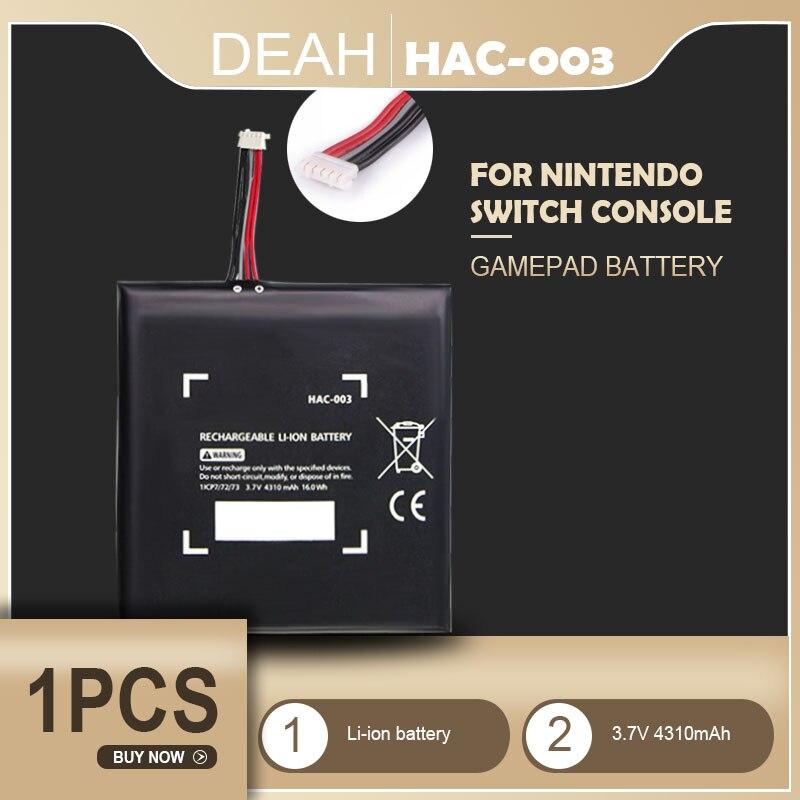 1 pçs HAC-003 reparação de substituição da bateria para nintendo nitendo switch 2017 game console HAC-001 atualização interna 3.7v 4310mah celular