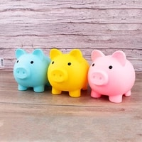 cartoon pig shaped children toys birthday gift home decor money saving boxes piggy bank coins storage box