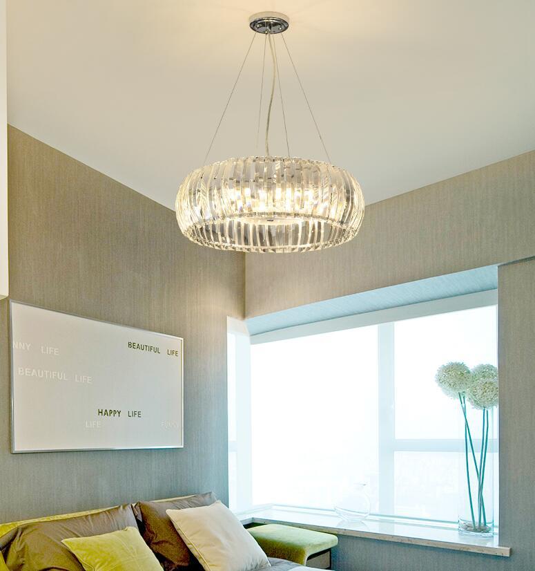 HAIXIANG LED cristal cercle plafonnier salon lustre éclairage couloir lumières