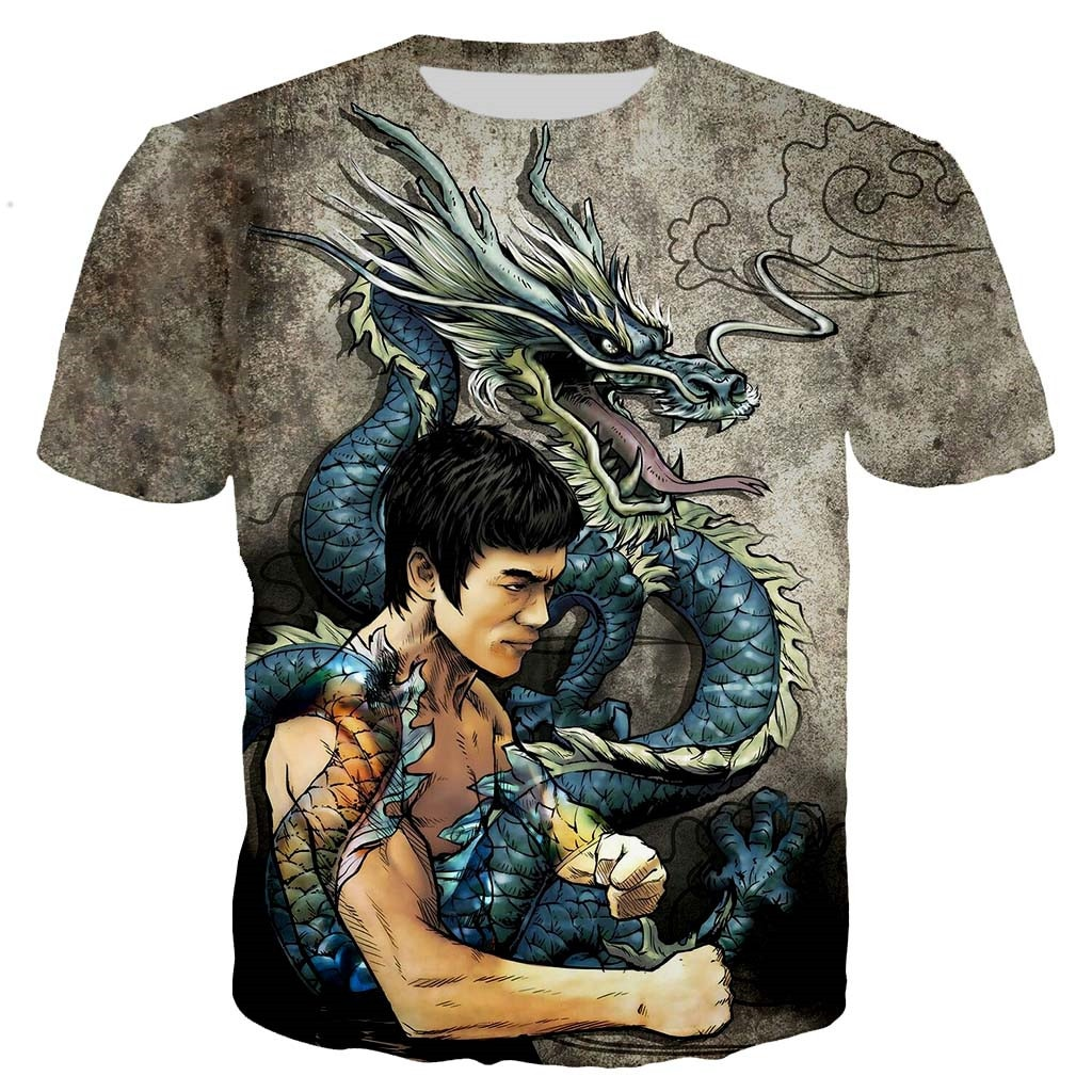 Bruce Lee men/women New fashion cool 3D printed t-shirts casual style tshirt streetwear tops  dropshipping