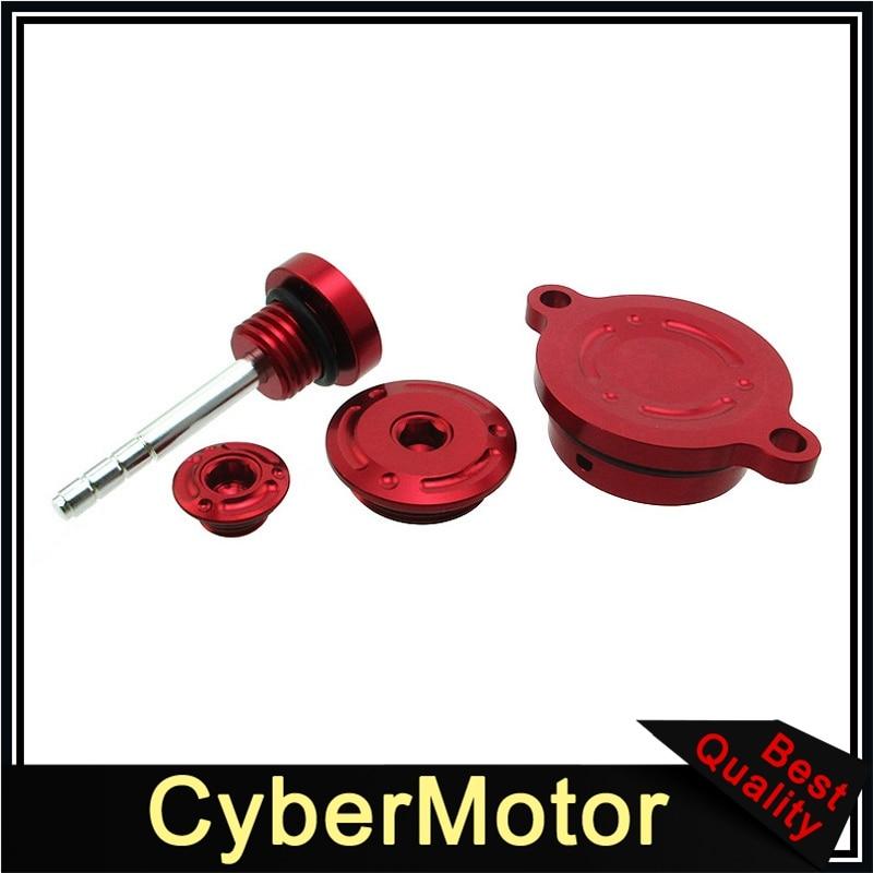 Kit de vestido rojo CNC para 190cc Zongshen 2 válvulas Daytona 4 válvulas arranque eléctrico anime 190FE Motor