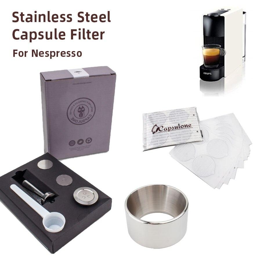 Капсульная капсула для кофемашины Nespresso многоразовая, из нержавеющей стали