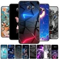 for samsung galaxy s6 edge plus silicone case cute pattern soft tpu case for samsung galaxy s6 s 6 edge plus cover bumper coque