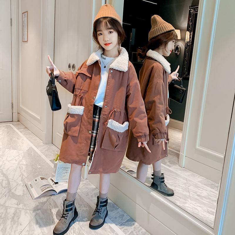 New 2021 Winter Girls Jacket Kids Plus Velvet Warm Windbreaker Fashion Thicken Jacket For Girl Children Clothes Casual Coat D163 enlarge