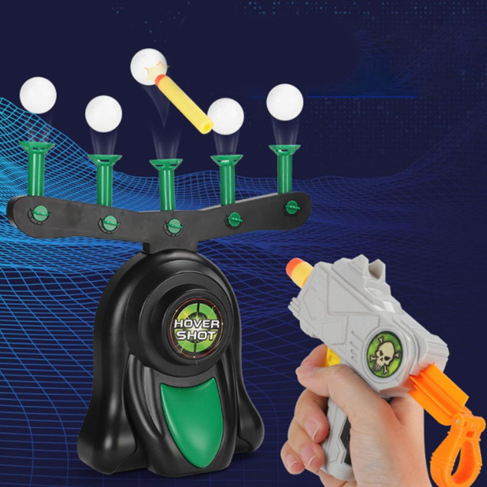 Electric Suspension Practice target Toys gun Shooting floating Ball Indoor interaction children educational Fun Game Kids Toys