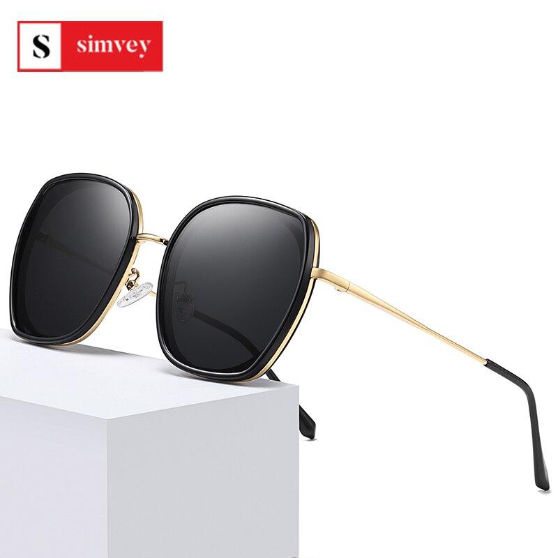 Simvey Fashion Luxury Brand Ladies Polarised Sunglasses Classic Vintage Oversized Designer Sun Glass