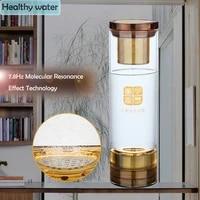 alkaline ionizer glass hydrogen drinking bottle pem electrolysis h2 generator cup mretoh 7 8 hertz resonant small molecule water