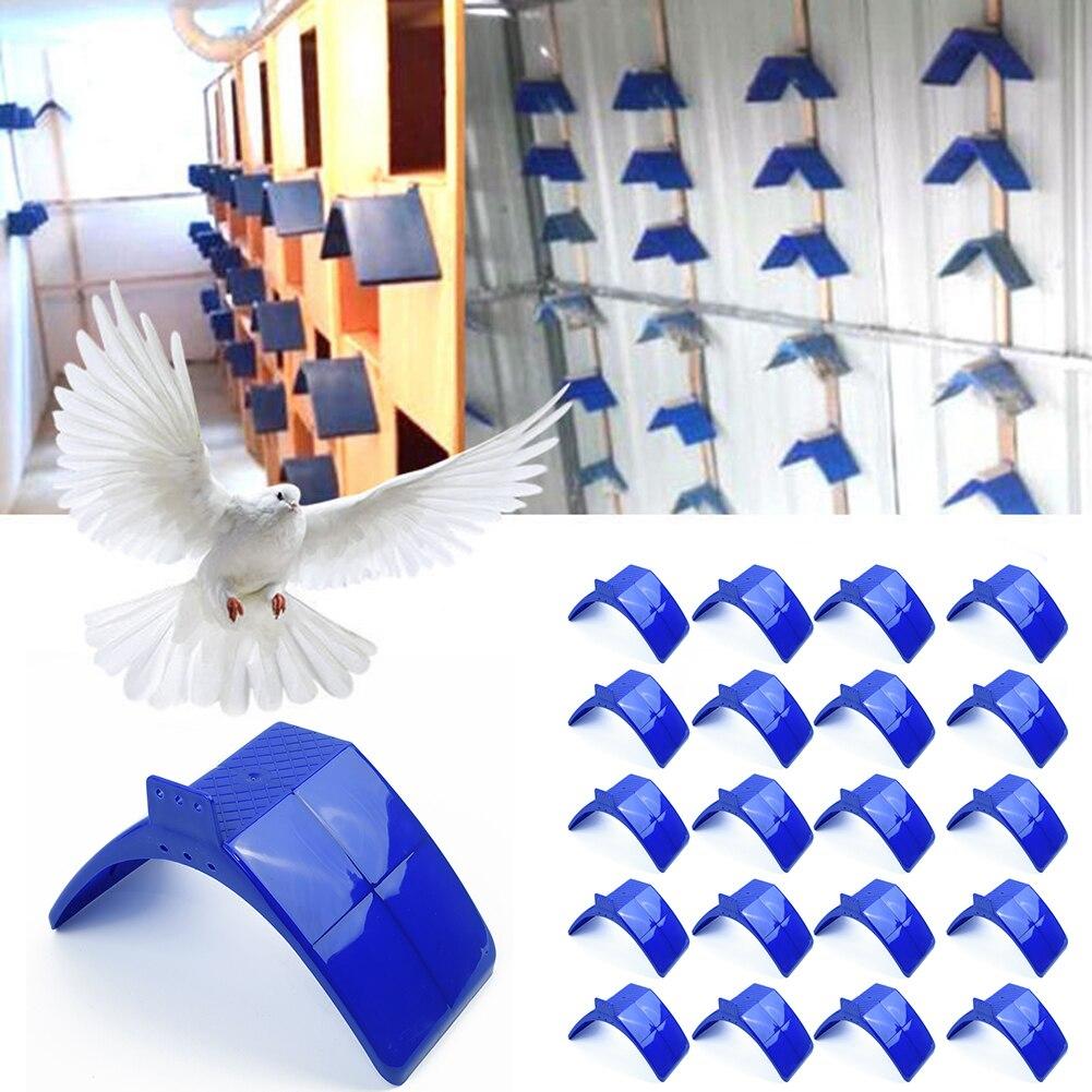 20pcs Pigeon Dove Bird House Parrots Blue Plastic Pigeon Dove Birds Rest Stand Frame Dwelling Perch Bird Supplies