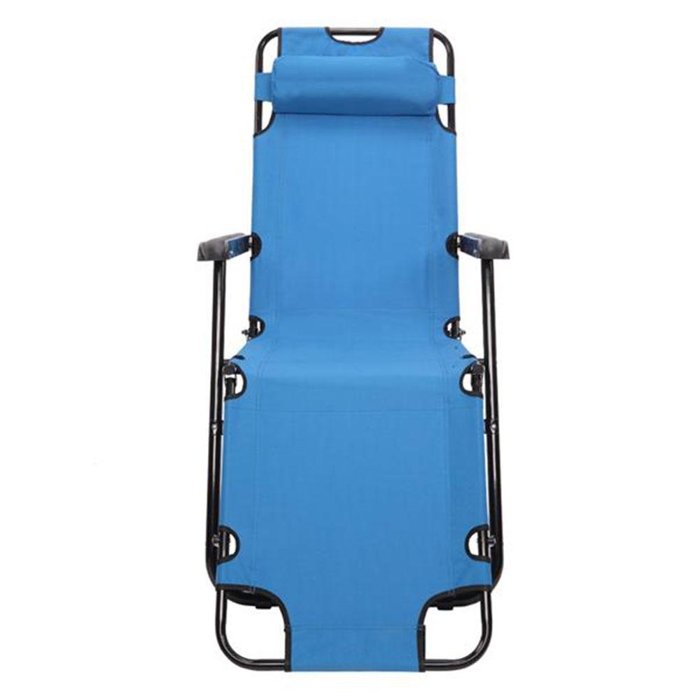 [US-W]RHC-202 Portable Dual Purposes Extendable Folding Reclining Chair Blue