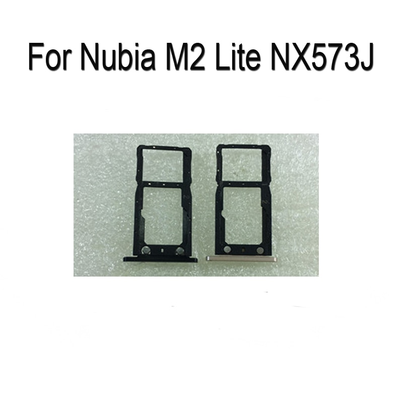100% Original Silver SIM Card Tray For ZTE Nubia M2 Lite NX573J SD Card Tray SIM Card Holder SIM Card Drawer NubiaM2Lite Parts