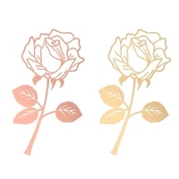 creative diy metal rose bookmark stainless steel electroplating office gifts learning stationery romantic exquisite simple
