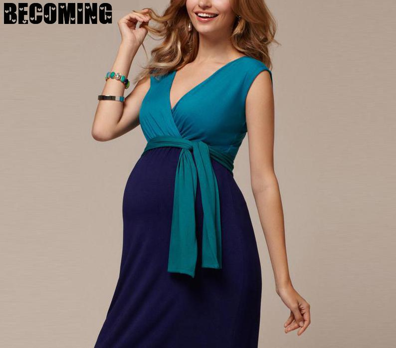 Xxxl Pregnant Dress Sleeve Less V-neck Sexy Pregnant Women Dress Maternity Dresses For Pregnant Ladies Plus Size Bc153 enlarge