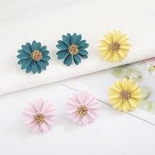 Pendientes Mujer Moda Earing Pendientes Chrysanthemum Flower Earrings Korean Simple Personalized Pendants Super Temperament