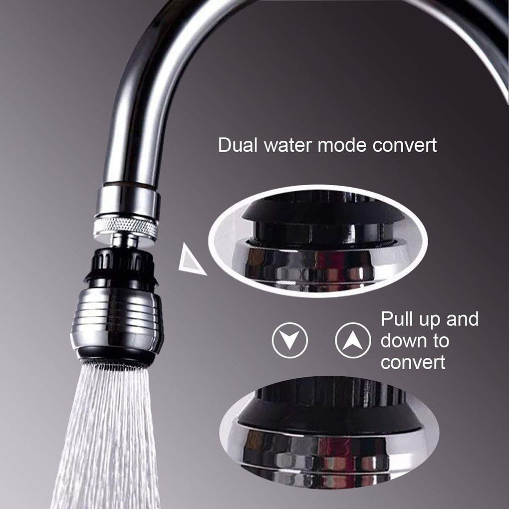 Kitchen Faucet Connector Shower Aerator 2 Modes 360 Degree adjustable Water Filter Diffuser Water Saving Nozzle Faucet