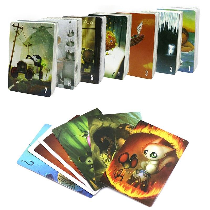 Gioco di carte diandong, 84 carte, gioco da tavolo educativo inglese e russo per bambini gioco da tavolo divertente per feste in famiglia