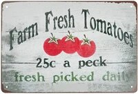 super durable metal sign farm fresh tomatos tin sign vintage bar cafe home garden wall decoration sign 8x12 inch