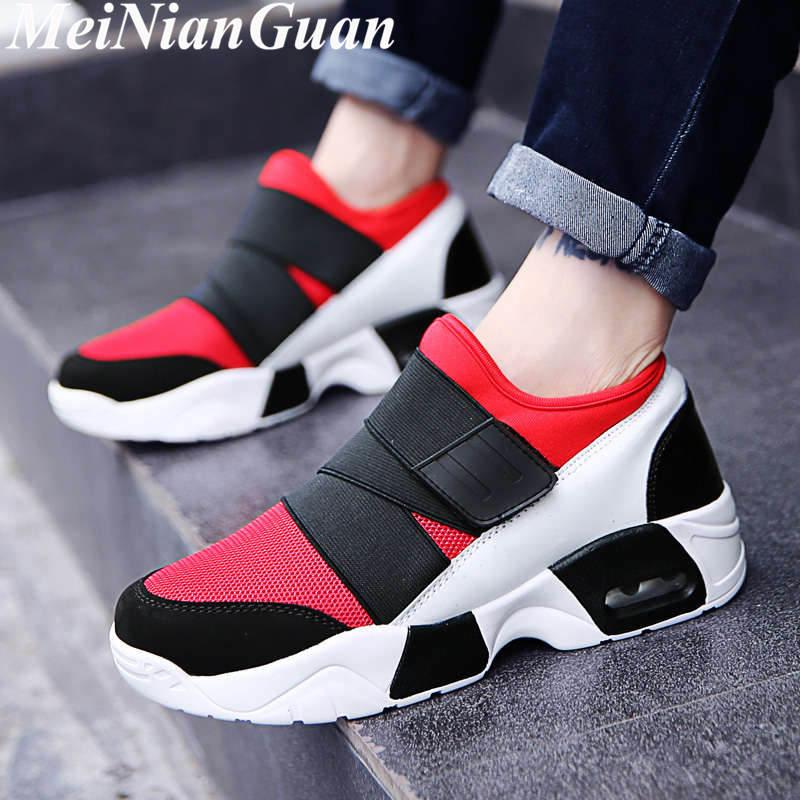Zapatos cómodos para hombre, zapatos de verano a la moda para hombre, zapatos informales con amortiguación de aire para hombre, zapatillas suaves ligeras para adolescentes B11