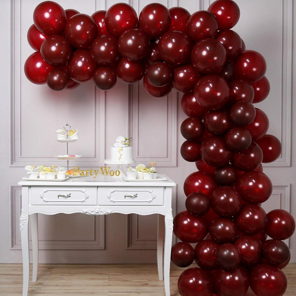Wine red balloons matte for wine party decoration wedding decoration, baby shower