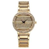 creative european style business quartz watch alloy diamond double click stainless steel fashion women watch 2020 ladies gift