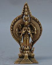 Tibet, budismo latón 1000 armas Avalokiteshvara diosa estatua de Buda Guan Yin