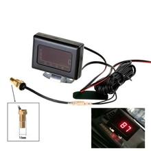 Universal 16mm 12/24 v carro digital medidor de temperatura da água kit temp sensor plug para motor do carro medidor de temperatura sensor