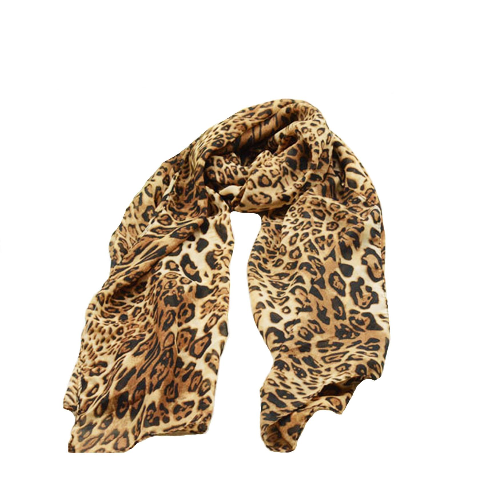 160x60CM Chiffon Leopard Scarf Brand New Fashion Women Long Chiffon Scarves Leopard Print Shawl All-match Lady Soft Scarf leopard print skinny scarf