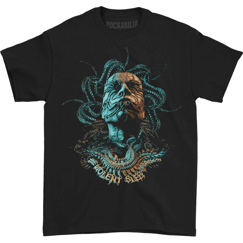 Meshuggah homme tête de tentacule 2016 Tour T-shirt noir