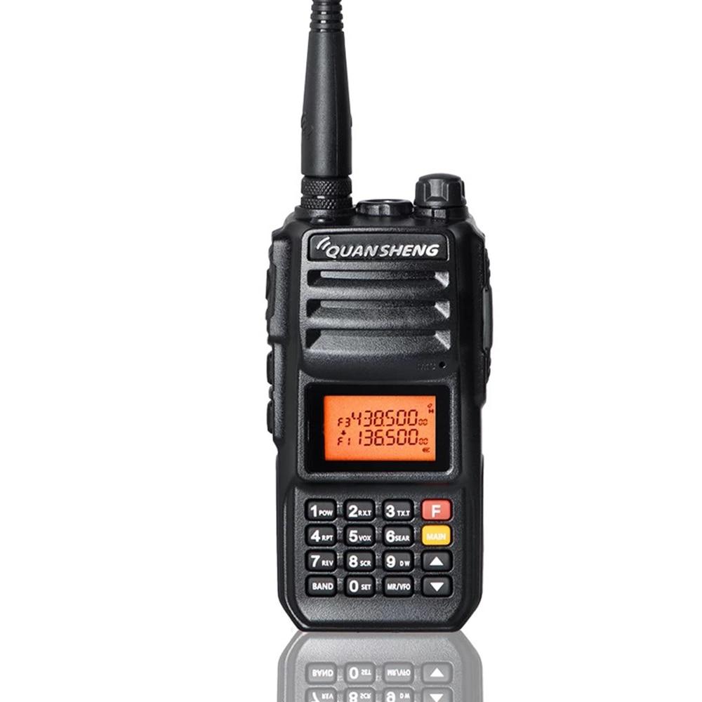 Walkie-Talkie 10 KM QuanSheng TG-UV2 Plus 10W Long Range Talkie Walkie 10 KM 4000mah Radio vhf uhf Dual Band Long Standby