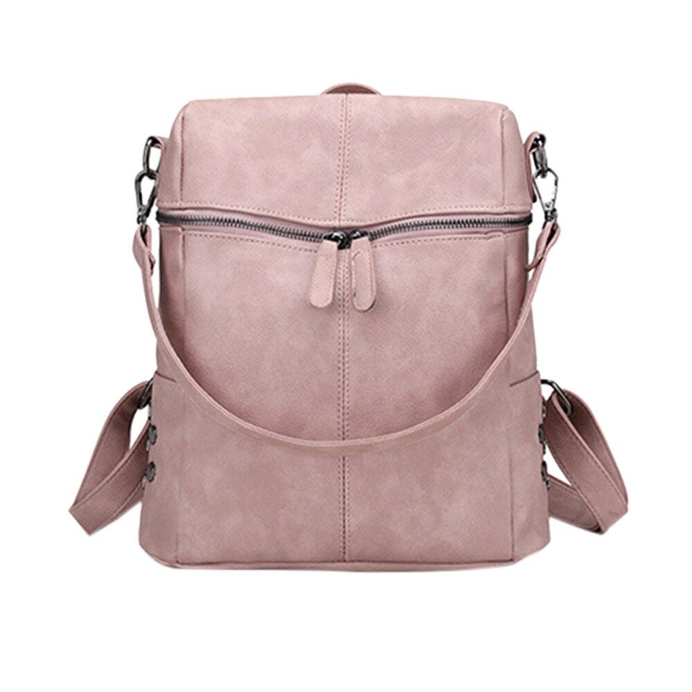 Женский винтажный рюкзак Puimentiua, вместительный школьный рюкзак из нубука и искусственной кожи, для девочек-подростков