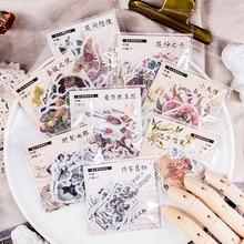 Dimi-pegatinas de papel de estilo europeo, calcomanías de estética Vintage con flores de Navidad, decoración de diario, álbum de recortes, 40 unids/paquete