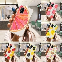 cartoon fruit lemon fashion cute special phone case transparent for samsung s 10 9 20 11 7 8 21 6 p edge plus ultra 4g 5g