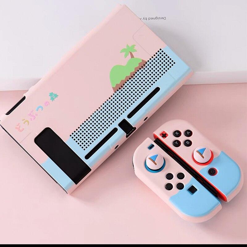 Чехол Nintendo Switch с охлаждающим отверстием, цветной милый мультяшный чехол сказочной лиги, мягкий чехол, задняя крышка для аксессуаров Nintendo ... чехол