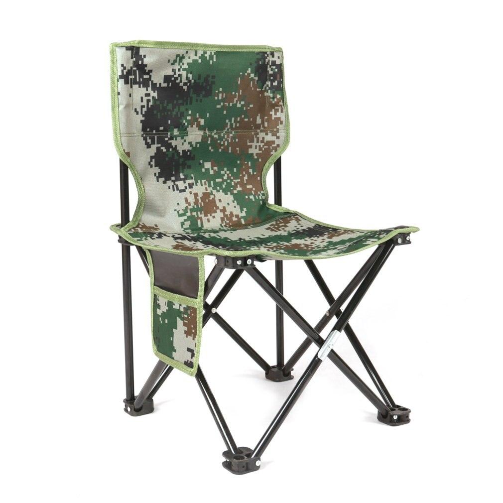 Ultraleve alumínio opvouwbare vier hoeken stoel camuflagem ao ar livre kruk stoel assento para acampamento wandelen vissen picknick