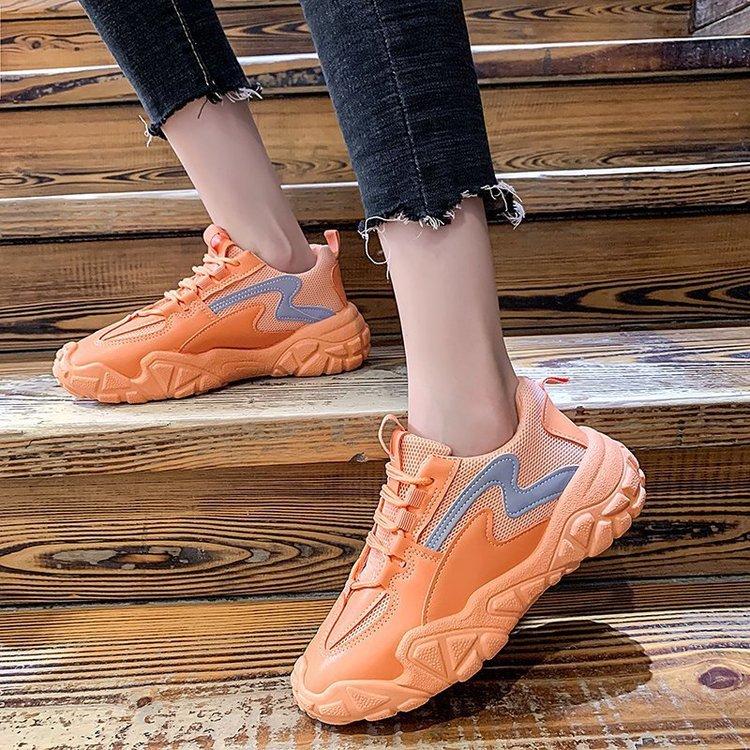 Chunky Sneakers for Women Mesh Designers Platform Fashion Vulcanized Shoes Woman Black Casual Shoes