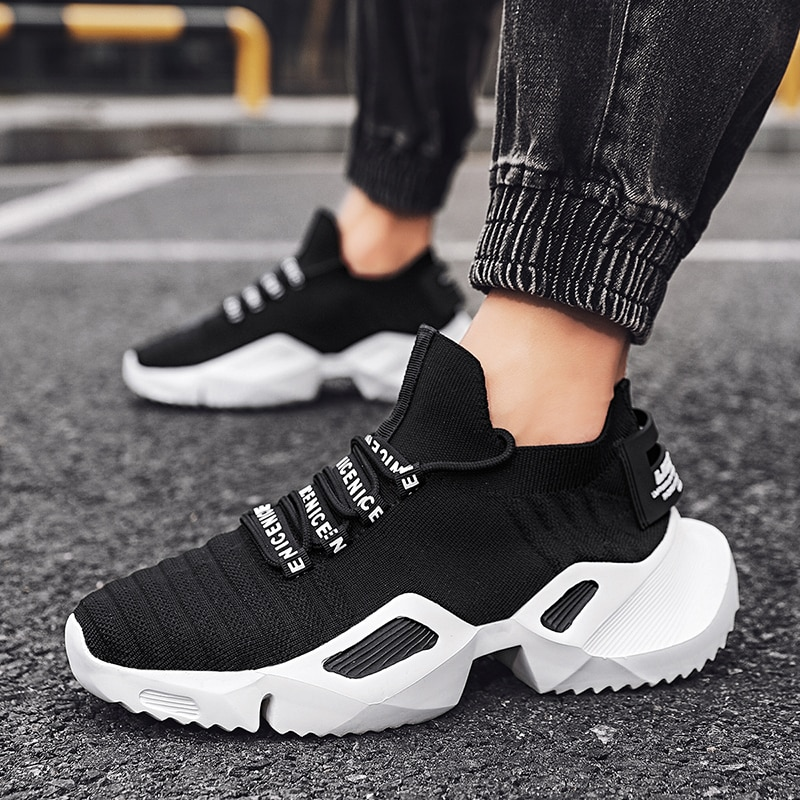 Homens sapatos de verão malha respirável homem tênis rendas até sapatos casuais leves sapatos masculinos caminhada tenis masculino zapatillas hombre