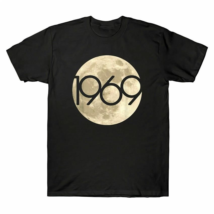 50 aniversario Apolo 11 1969 Luna aterrizaje negro Camiseta talla M-3Xl ropa Casual camiseta