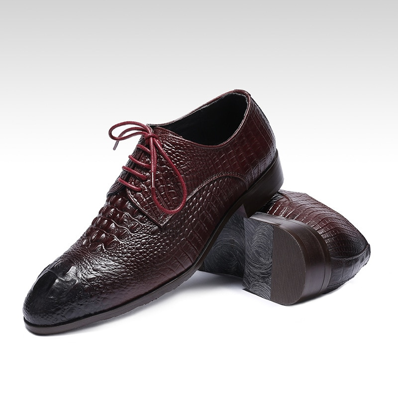 التمساح نمط جلد رجال الأعمال أحذية من الجلد أحذية مصممين الرجال فستان أحذية الرجال فستان رجالي حذاء رجالي