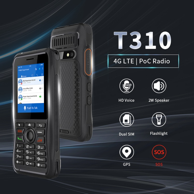 Inrico T310 4G LTE Zello Walkie Talkie Mobile Network POC Radio with Dual SIM Card NFC Touch Screen Camera Walkie Talkie