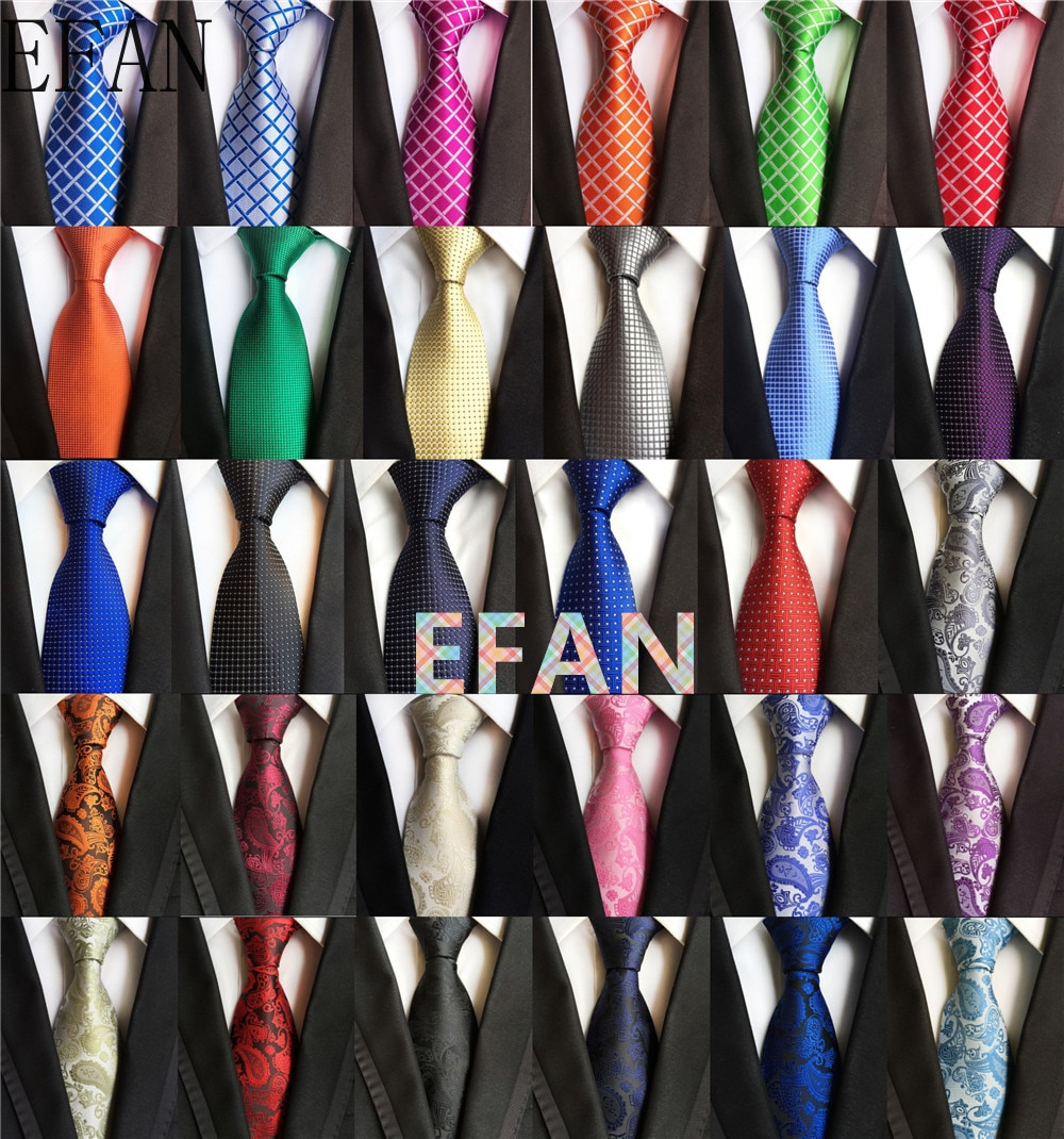 New Classic 8cm Tie for Man 100% Silk Tie Luxury Solid Plaid Dots Business Neck Ties for Men Suit Cravat Wedding Party Necktie недорого